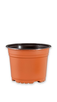Горшок VCD 9,5 terracotta/black TEKU